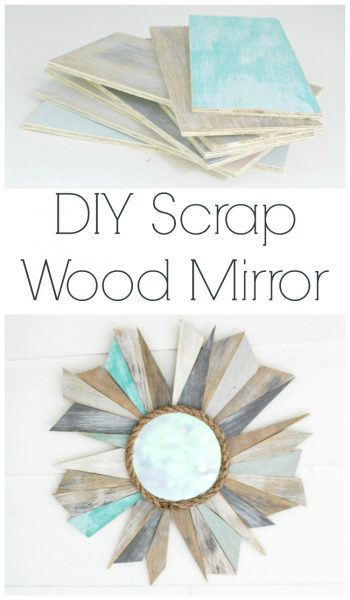 how to make a sunburst mirror from scrap wood