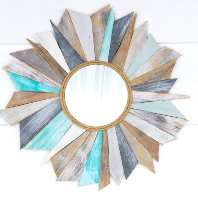 How to make a Sunburst Mirror using Scrap Wood