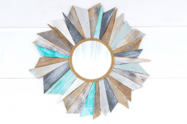 diy coastal sunburst mirror