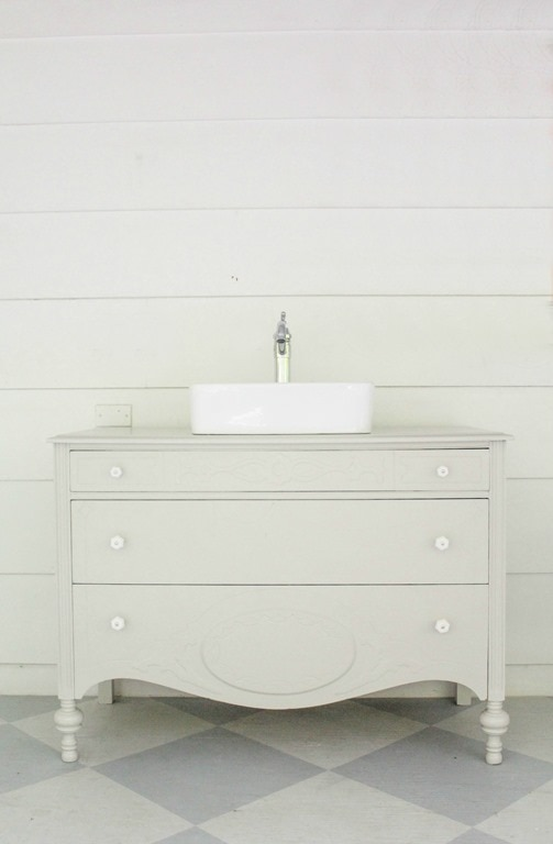 Used Bathroom Vanity Cabinets White Mdf Bathroom Cabinet: Vintage Dresser Bathroom Vanity