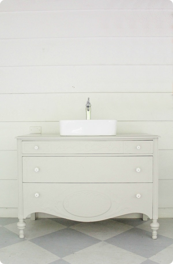 Bathroom Vanities Made From Furniture vintage dresser bathroom vanity - lovely etc.