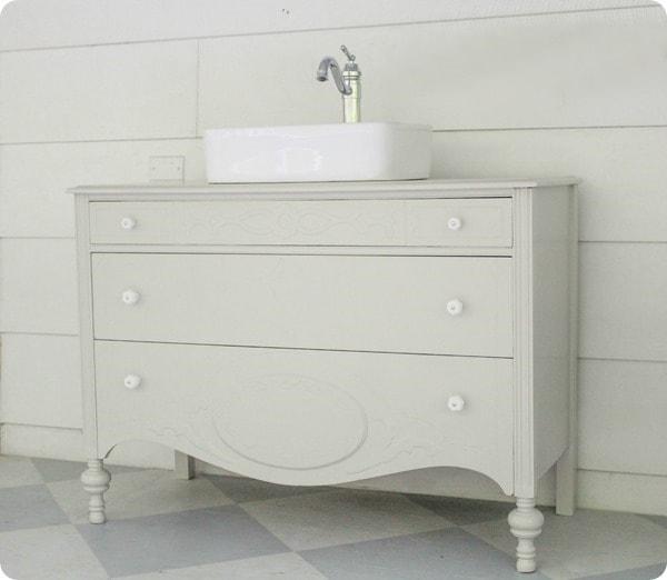 dresser vanity with vessel sink
