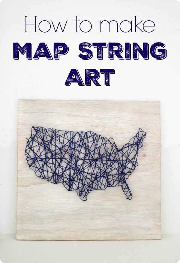 how to make map string art