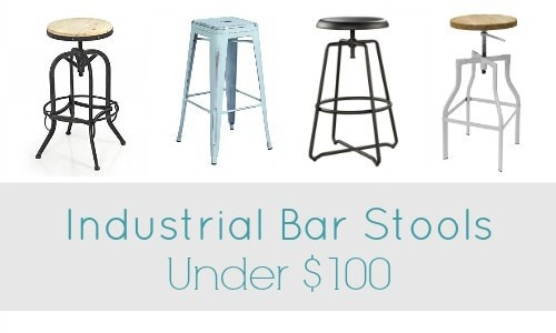 Industrial Bar Stools under $100