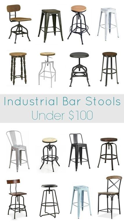Industrial Bar Stools Under 100 Lovely Etc