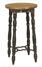 vintage distressed bar stool