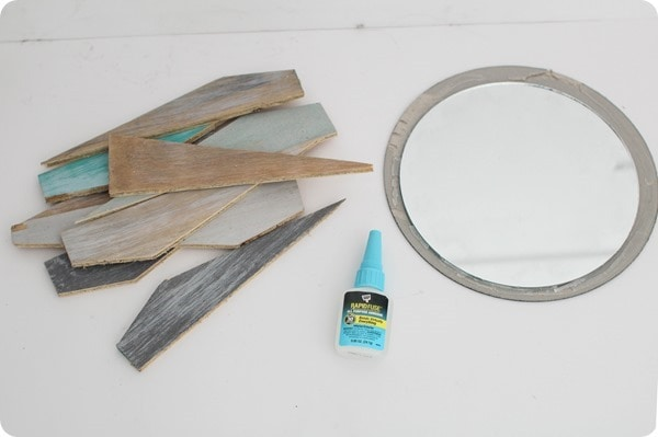 materials for beachy sunburst mirror