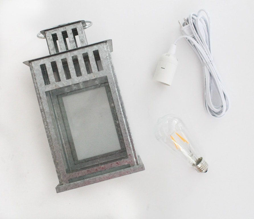 50860b1a9f35 How to turn a lantern into a lamp - Lovely Etc.