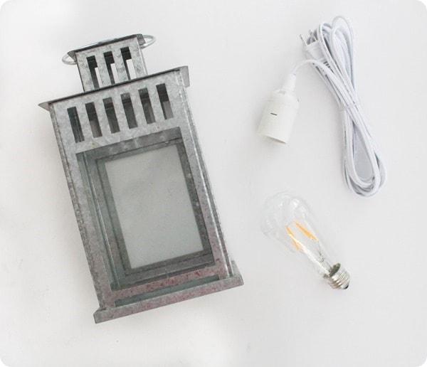 materials for lantern lamp
