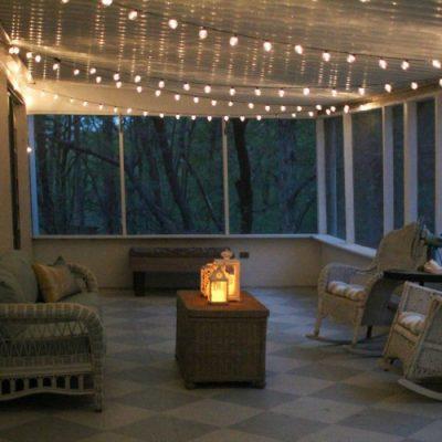A gorgeous porch light solution