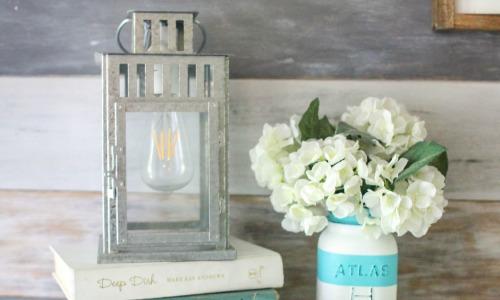 upcycled lantern lamp