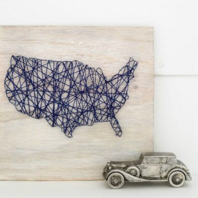 DIY Map String Art