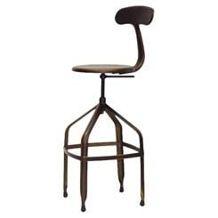 architect stool with back
