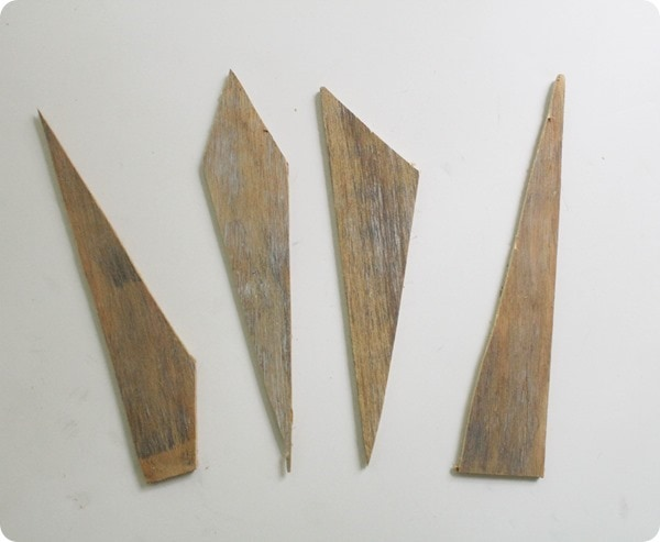 wood shapes for diy sunburst mirror