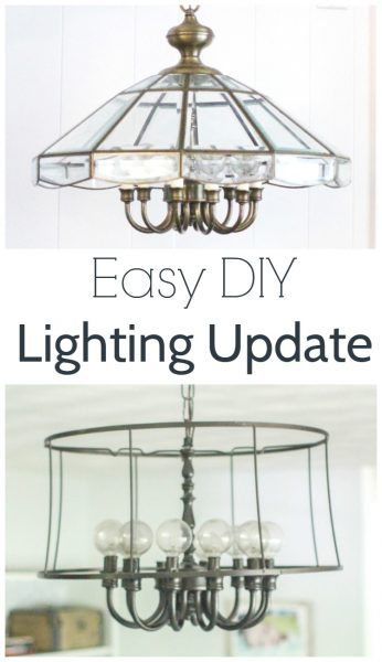 easy industrial diy lighting update