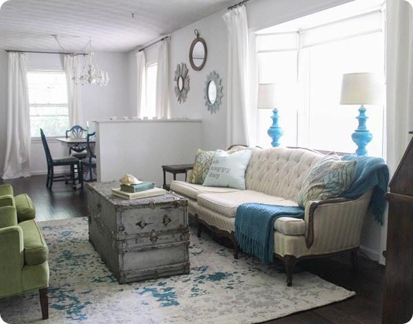 flea market style living room