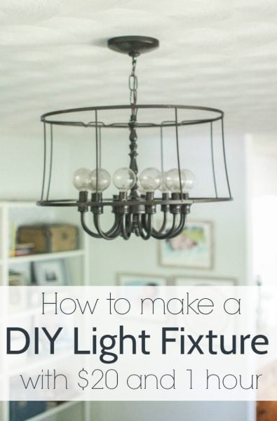 how to make a diy light fixture with $20 and 1 hour