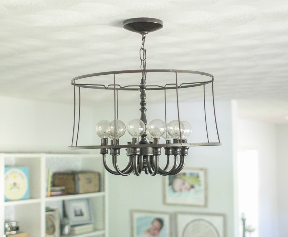 Diy Industrial Light An Upcycled Lighting Project Lovely