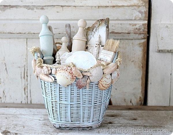seashell basket from petticoat junktion