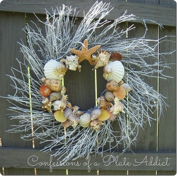 seashell wreath confessions of a plate addict