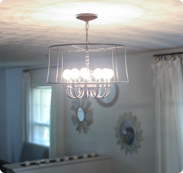 updated industrial chandelier