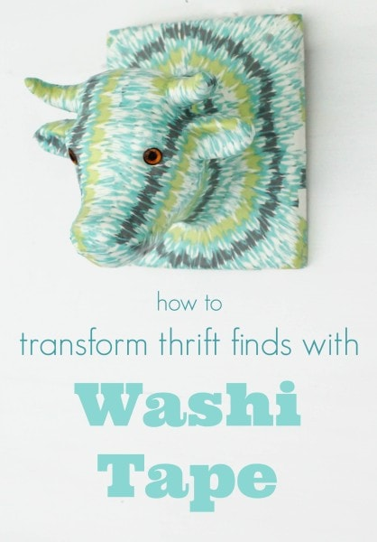 how to transform thrift finds with washi tape