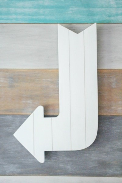 white farmhouse arrow