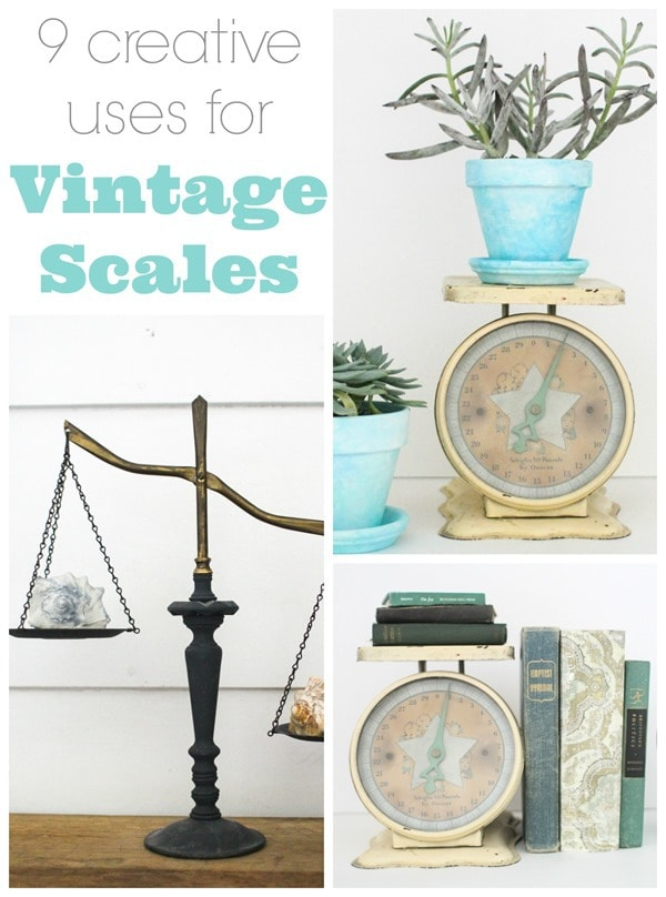 9 creative uses for vintage scales