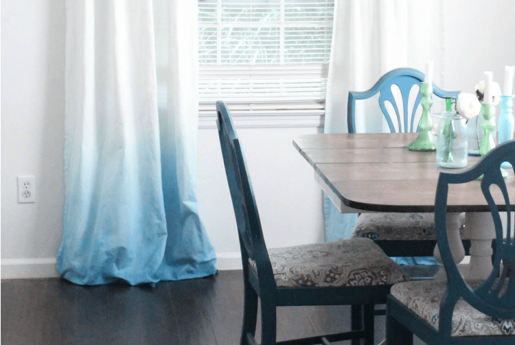 DIY Blue Ombre Curtains - Lovely Etc.