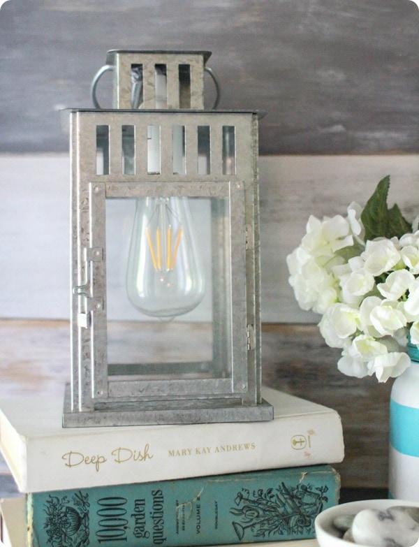 candle lantern turned lamp