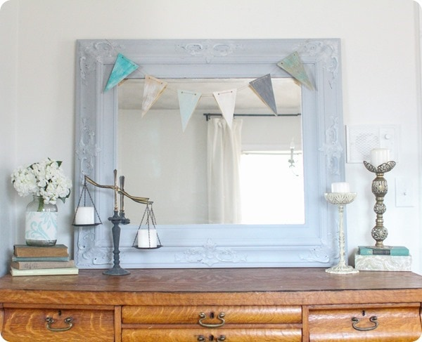 decorating with a vintage balance