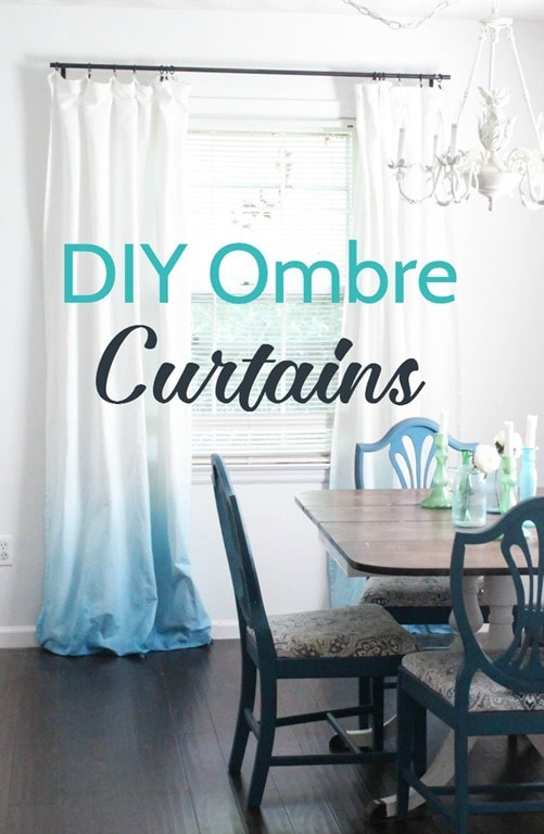 Diy Blue Ombre Curtains Lovely Etc