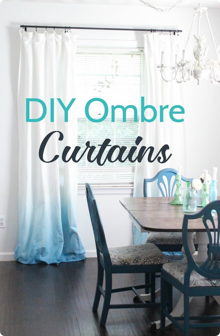 diy blue ombre curtains