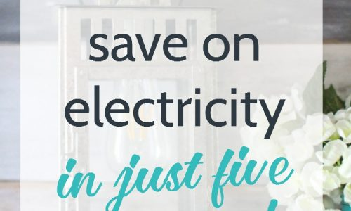 how to save on electricity in five minutes