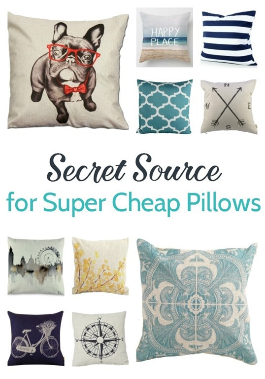 Inexpensive Throw Pillow Covers : My secret source for cheap throw pillow covers - Lovely Etc.