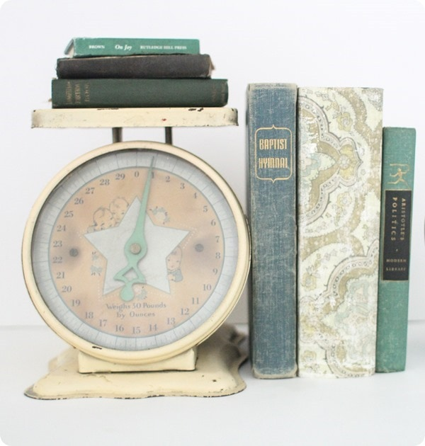 vintage scale with old books