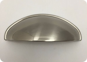 brushed nickel cup pull