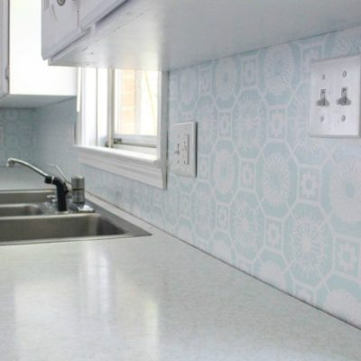 The Cheapest DIY Backsplash Ever