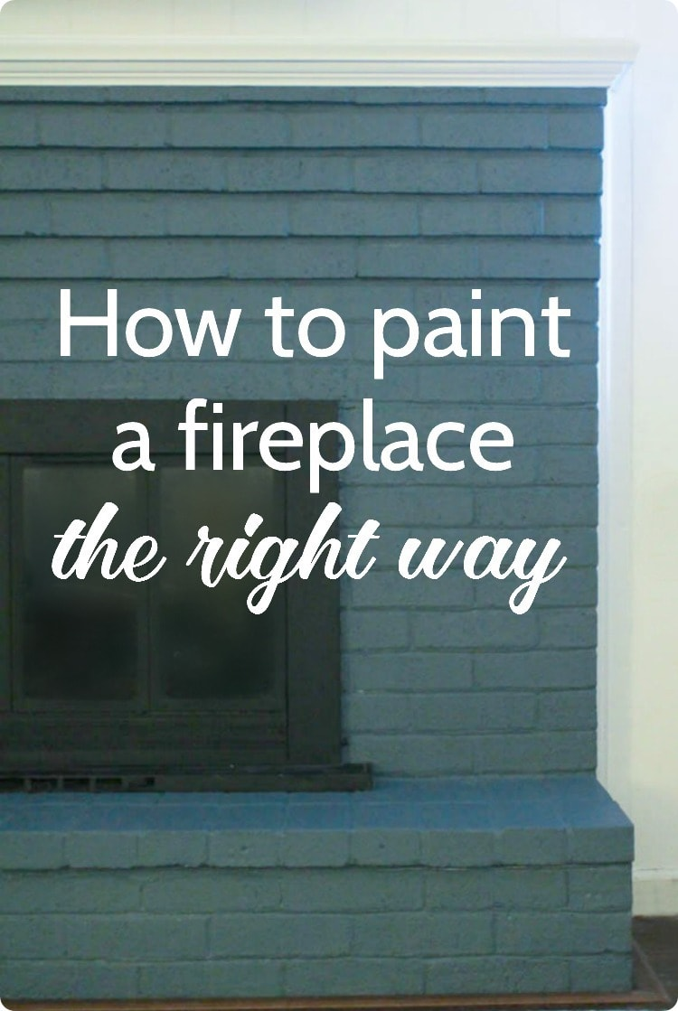 how to paint a brick fireplace the right way lovely etc