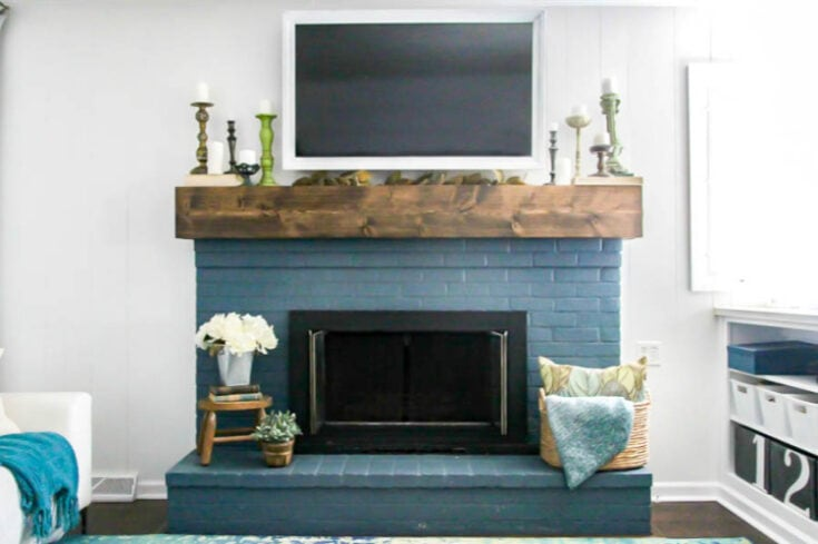 How to paint a brick fireplace (the right way)