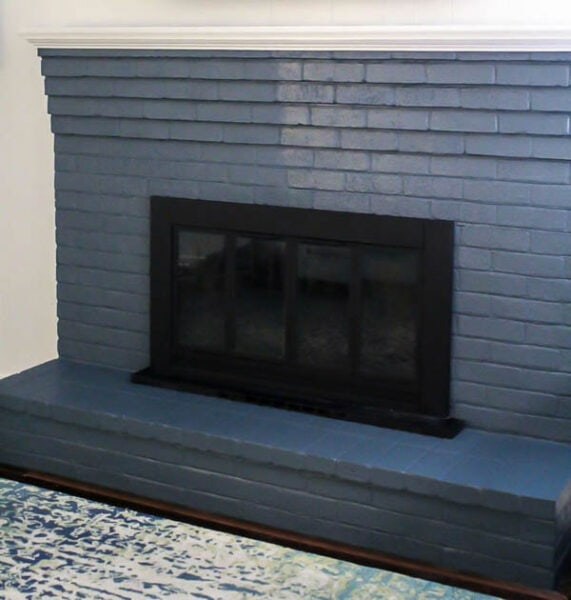 matte vs satin finish on brick fireplace