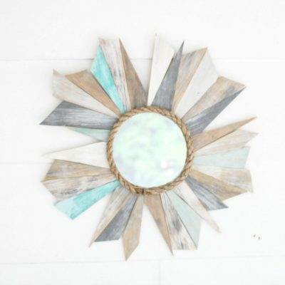 How to make a Sunburst Mirror using Scrap Wood