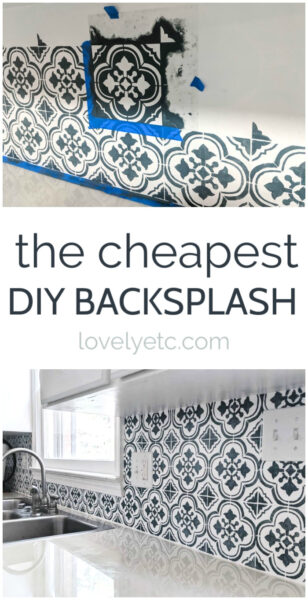 the cheapest diy backsplash