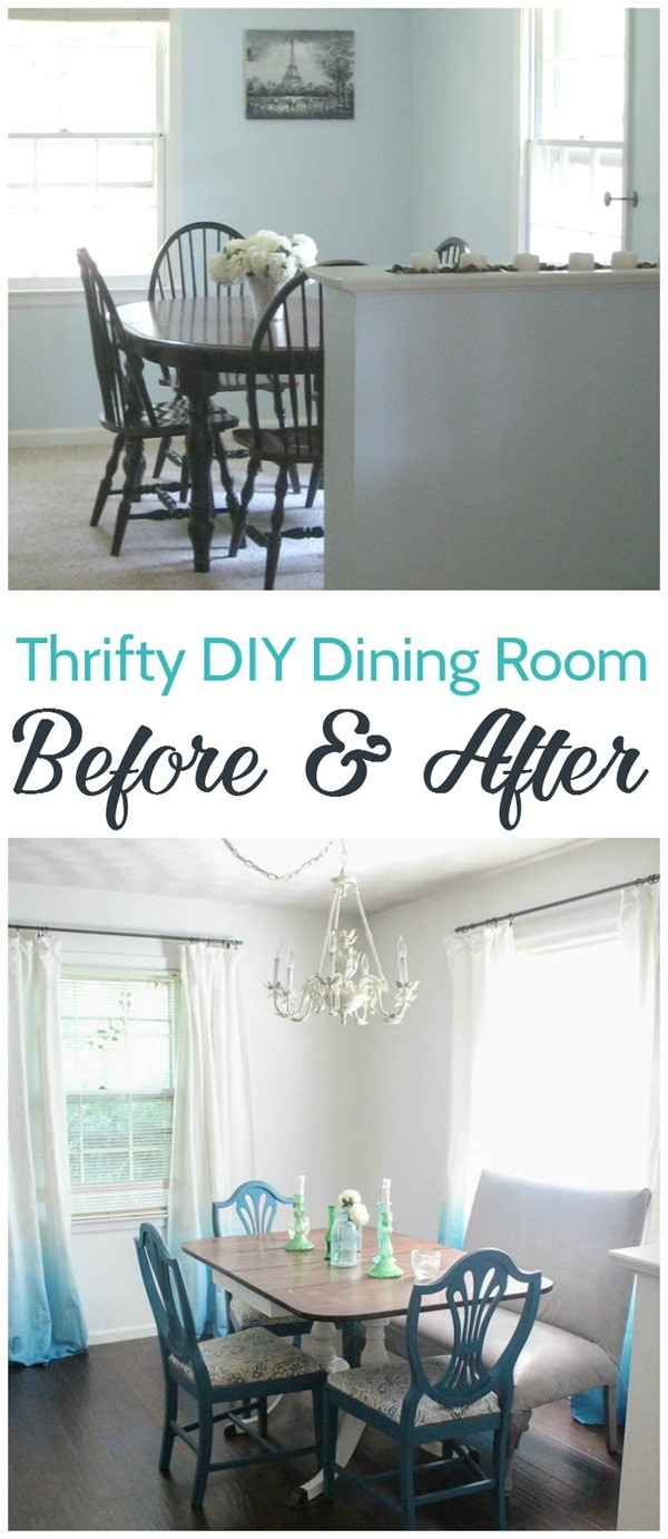 thrifty diy dining room before and after