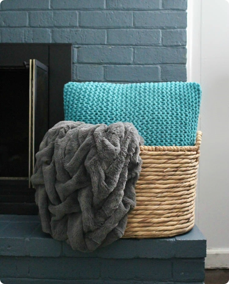 basket and cozy blanket