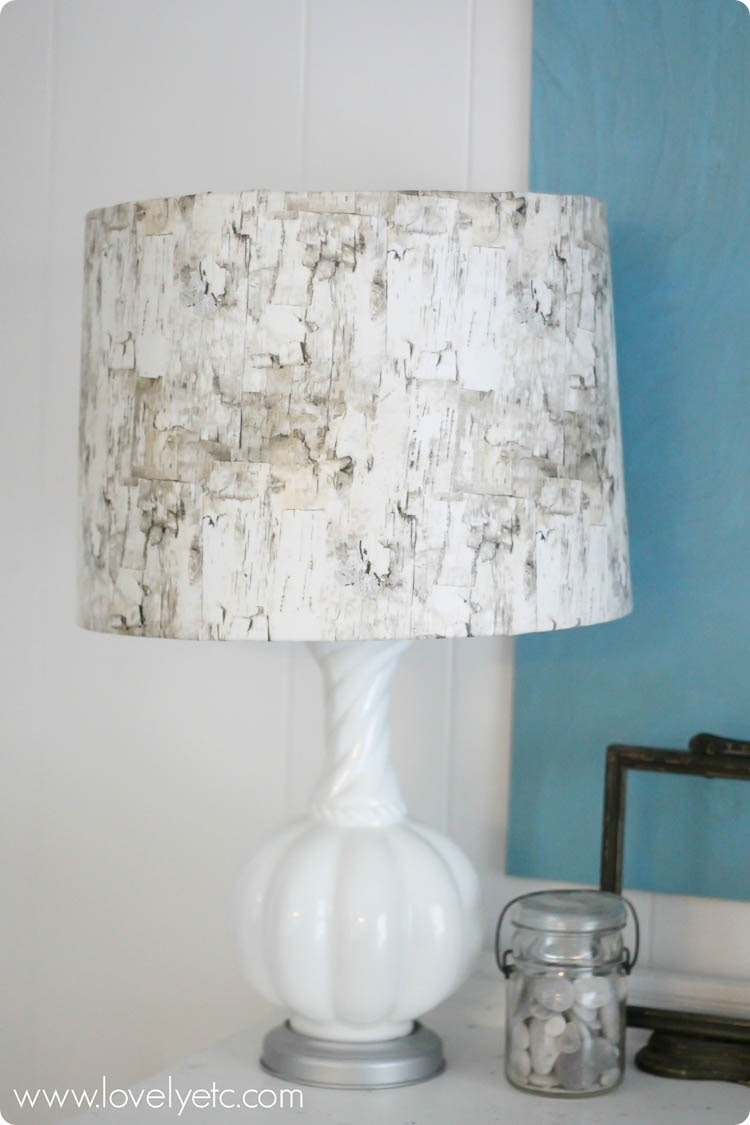 birch lampshade