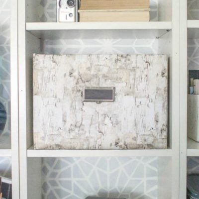 Turn any cardboard box into beautiful storage