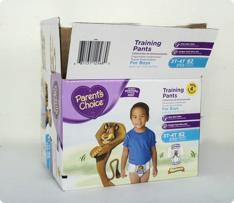 diaper box before