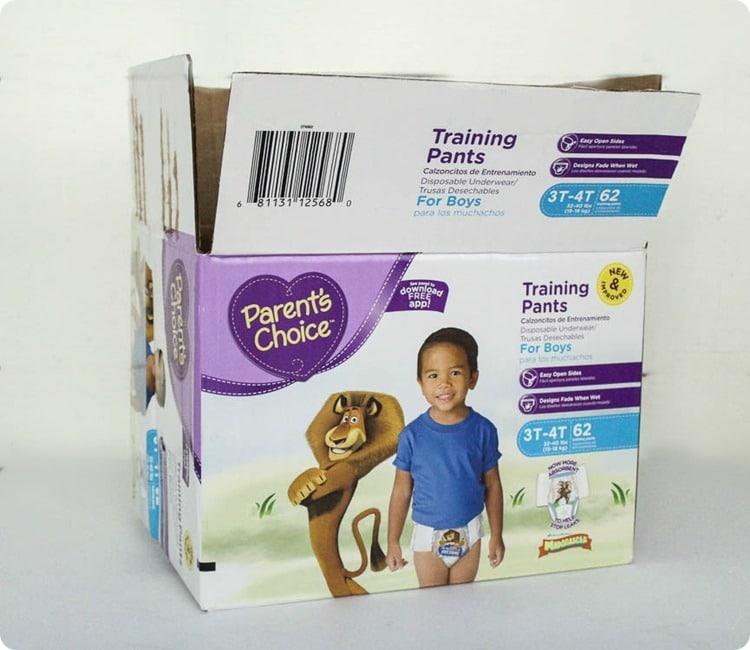diaper box before
