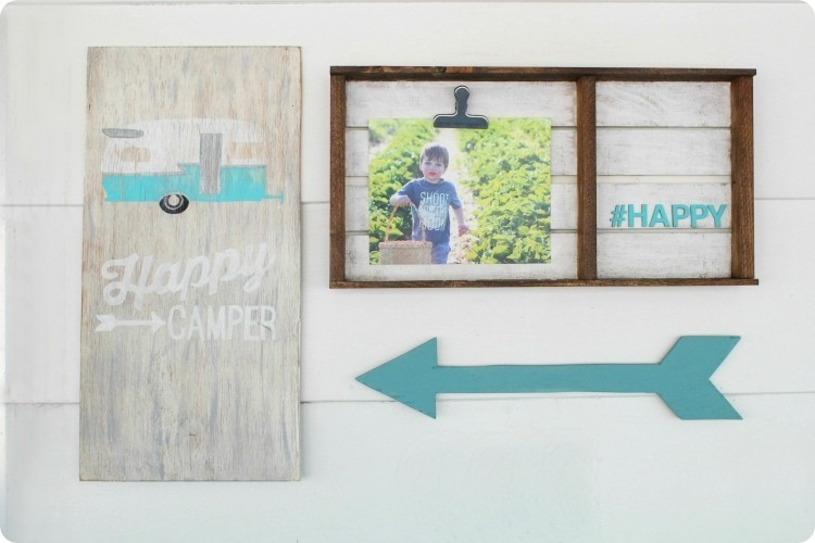 diy happy camper sign